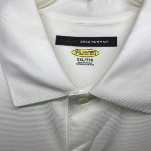 Greg Norman Collection Shirts - (SOLD)GREG NORMAN PLAY DRY Shark Logo Shirt XXL